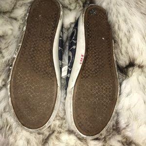 Coach Shoes - Coach blue signature c tennis shoes 8.5